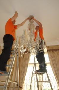 Packing a Crystal Chandelier